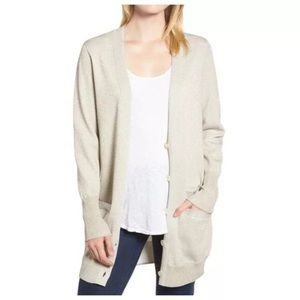 NEW J Crew Collection Metallic Boyfriend Cardigan